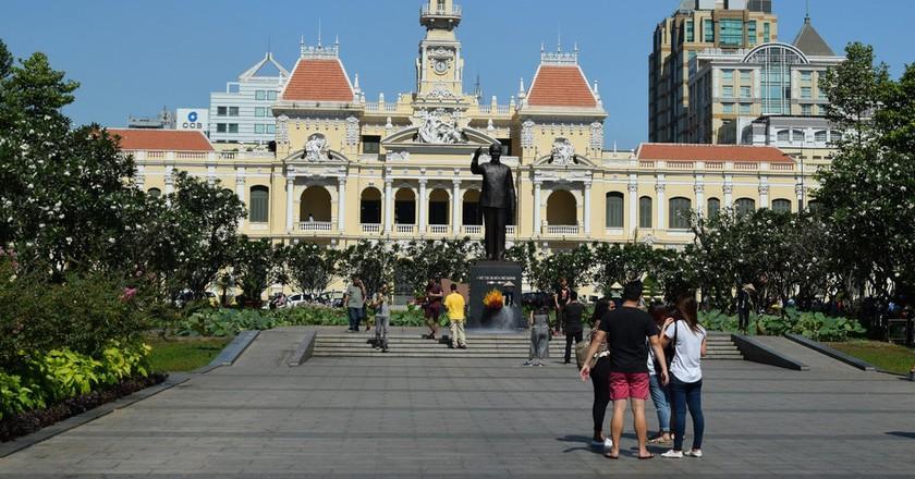 Old City Hall on Nguyen Hue Walking Street, Ho Chi Minh City