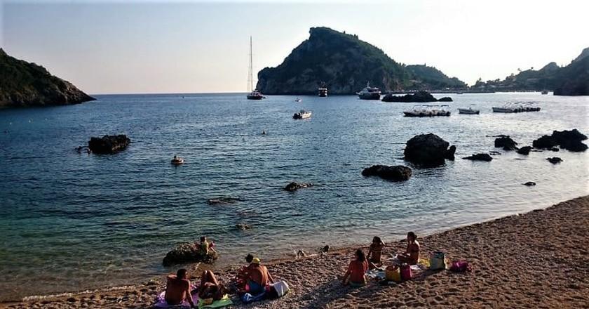 Waiting for the sunset at Palaiokastritsa, Corfu
