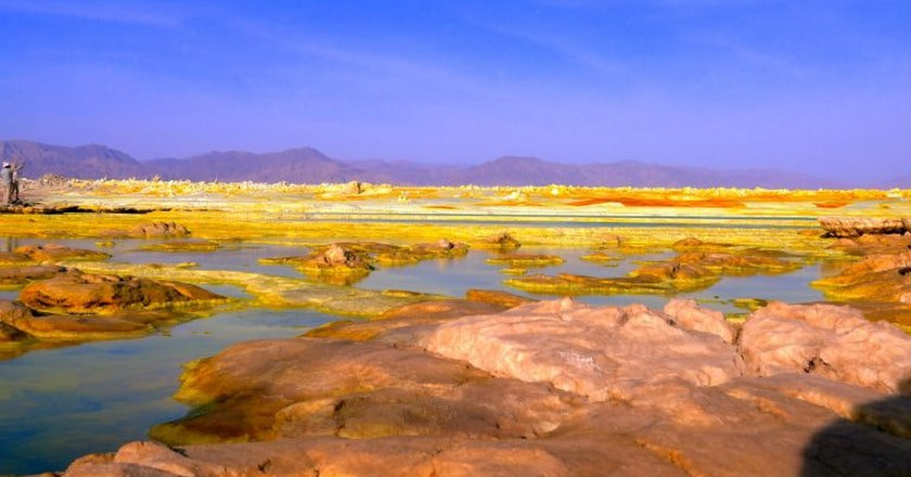 A lake in Afar, Ethiopia