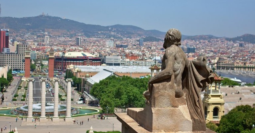 Barcelona seen from the MNAC