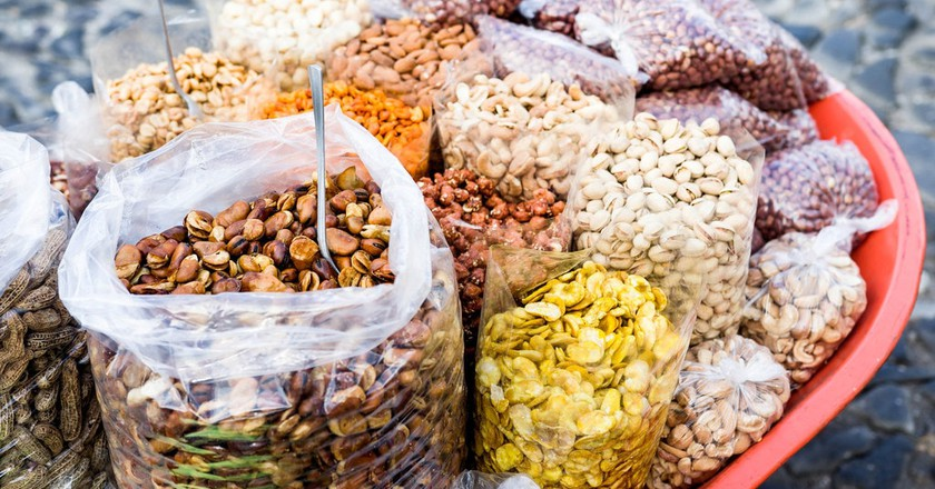 Bulk nuts and beans