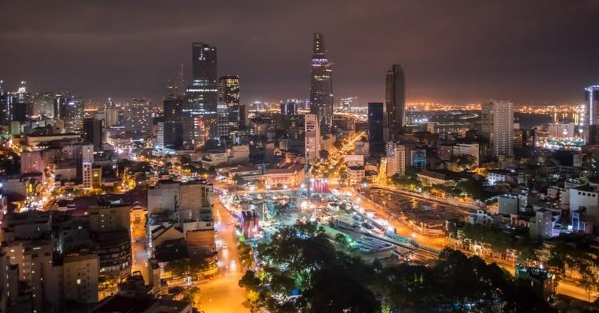 Ho Chi Minh City at night