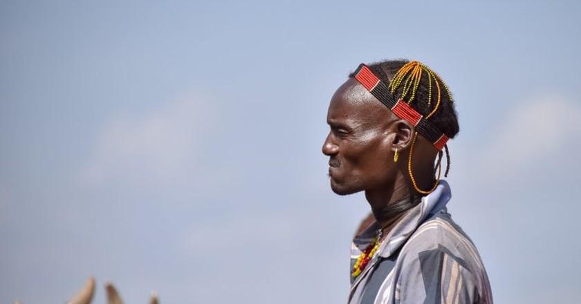 Hamer tribe warrior, Southwestern Ethiopia