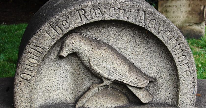 Edgar Allan Poe's grave in Baltimore