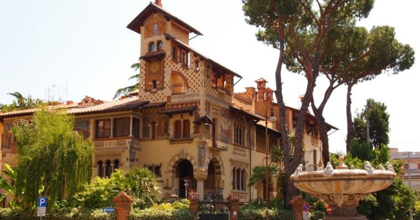 Playful fountains and extravagant buildings characterise Quartiere Coppedè