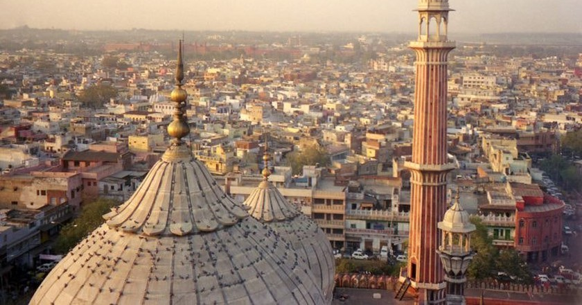 The minaret at Jama Masjid provides the best view of Old Delhi