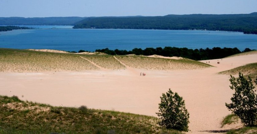 View of Glen Lake from the Dune Climb