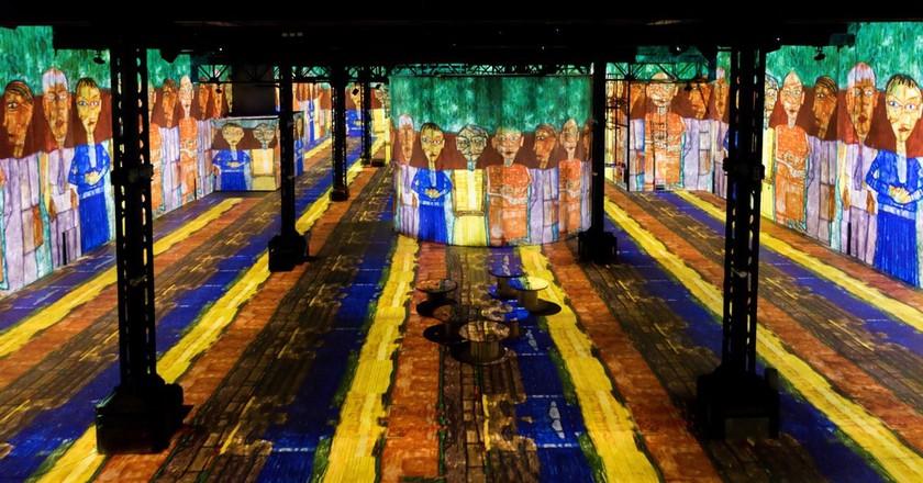 The immersive exhibition Atelier des Lumières