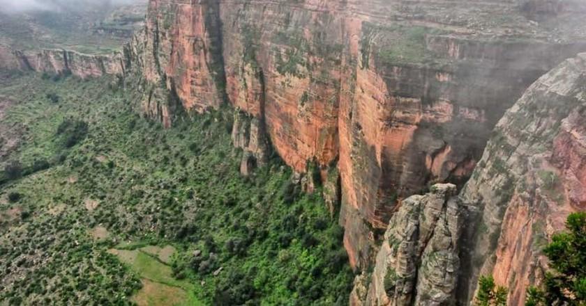 Escarpment in Tigray, the northern part of Ethiopia