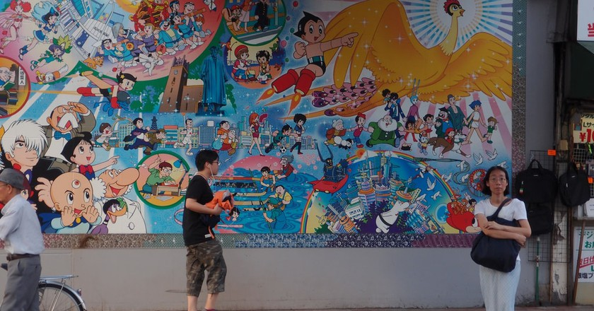 Osamu Tezuka wall @ Takadanobaba   © Guilhem Vellut/ Flickr