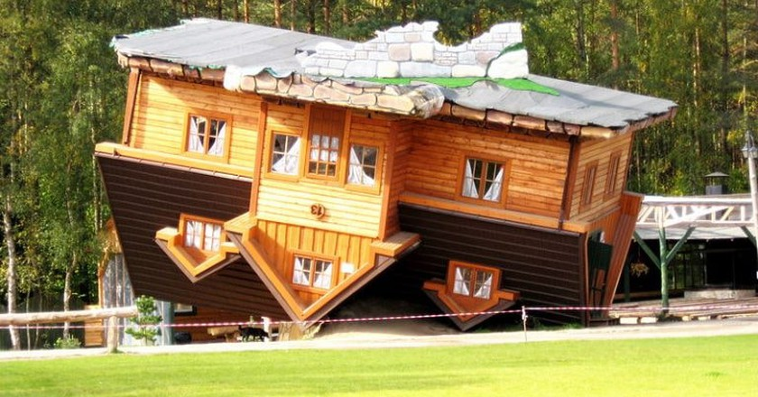 The Upside Down House in Szymbark
