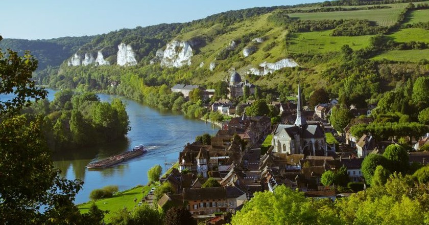 Les Andelys in Normandy, France