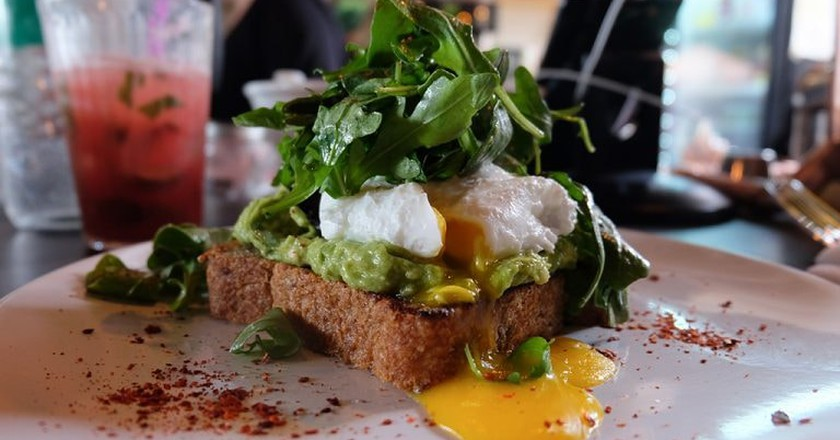 Avocado Toast at The Cliff in Jersey City, NJ
