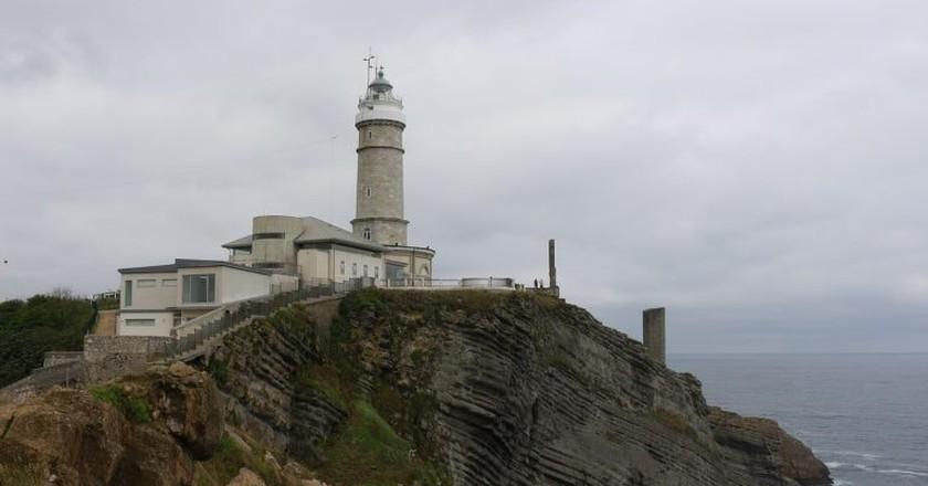 A rainy day on the coast of Santander