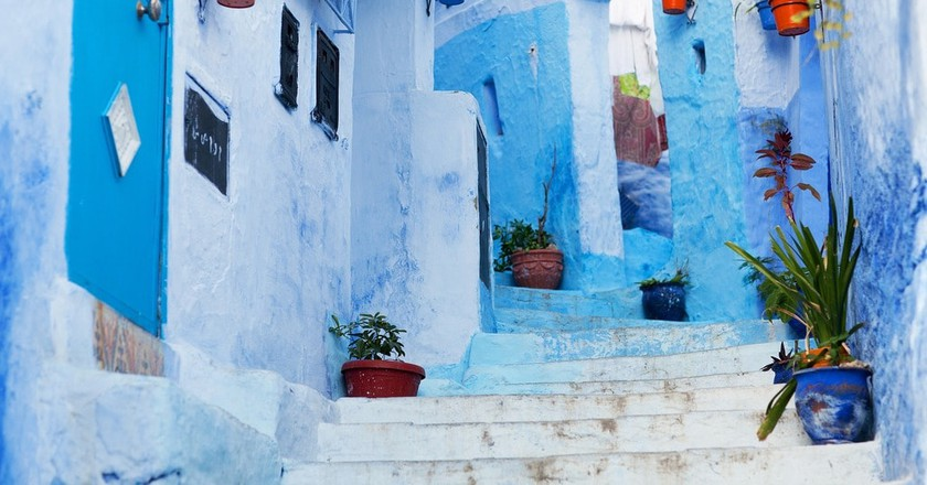The blue walls of Chefchaouen
