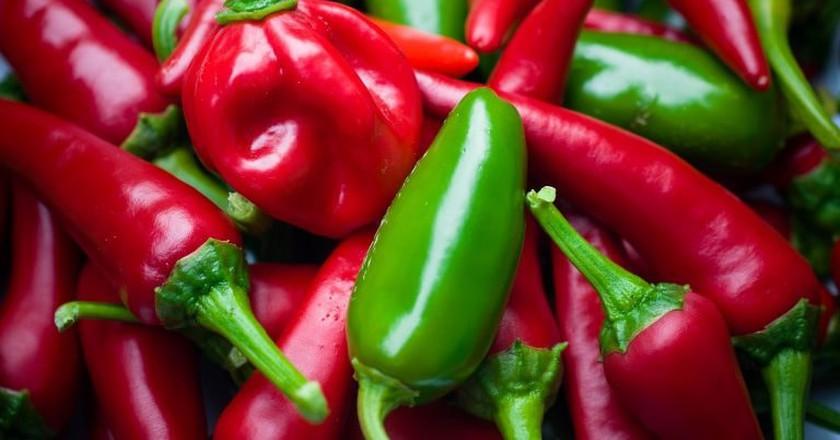 Habanero chili peppers