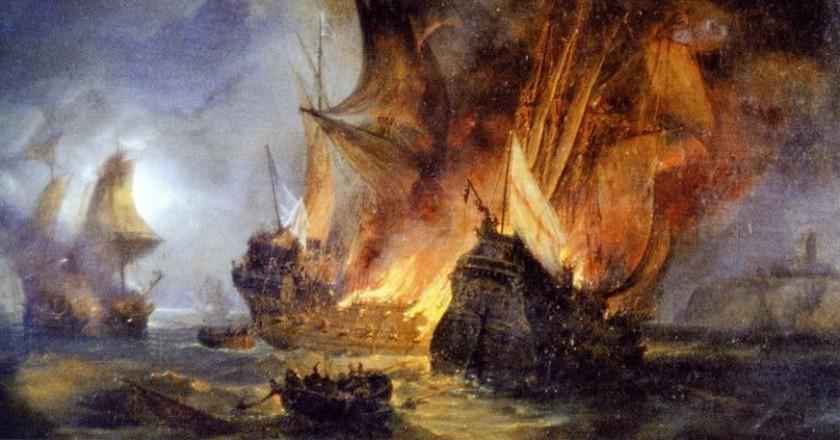 Pierre-Julien Gilbert's Combat de la Cordelière, 1838