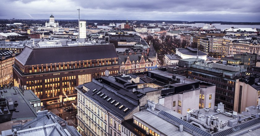 City views over Helsinki.