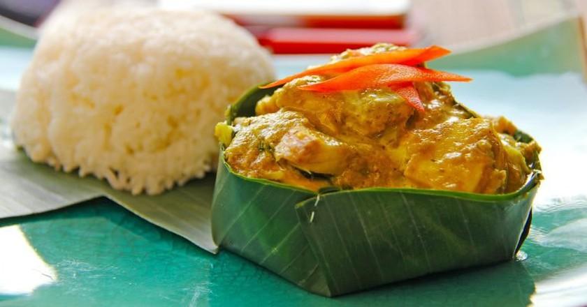 Fish amok is a signature Cambodian dish