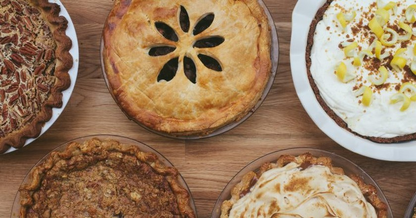 Homemade pie and seasonal flavors can be found at Emporium Pies.