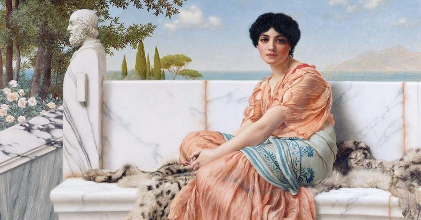Reverie (In the Days of Sappho) by John William Godward