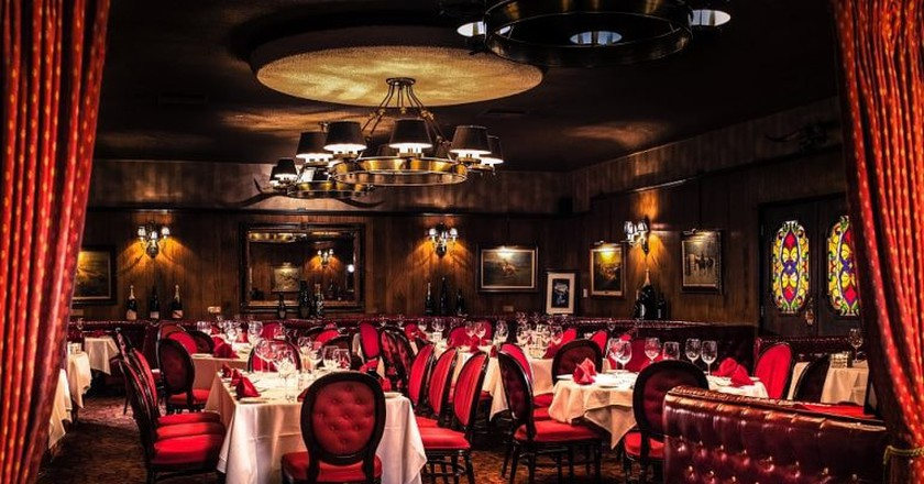 Dining room at the Golden Steer