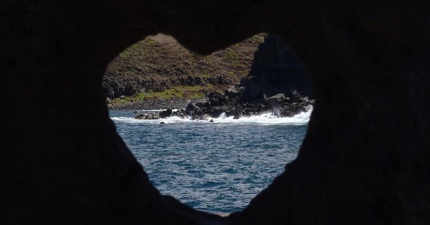 Maui's heart rock