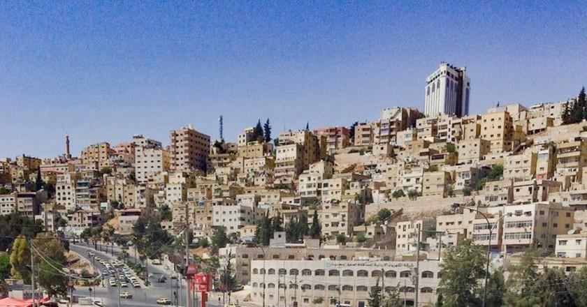 A typical Amman hillside as seen from downtown