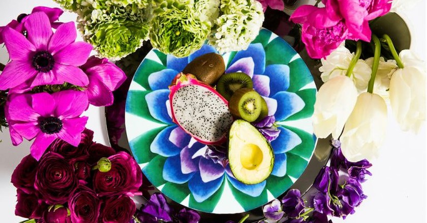 """The """"Sappho Dinner Plate"""" created in partnership with Judy Chicago and Prospect NY 