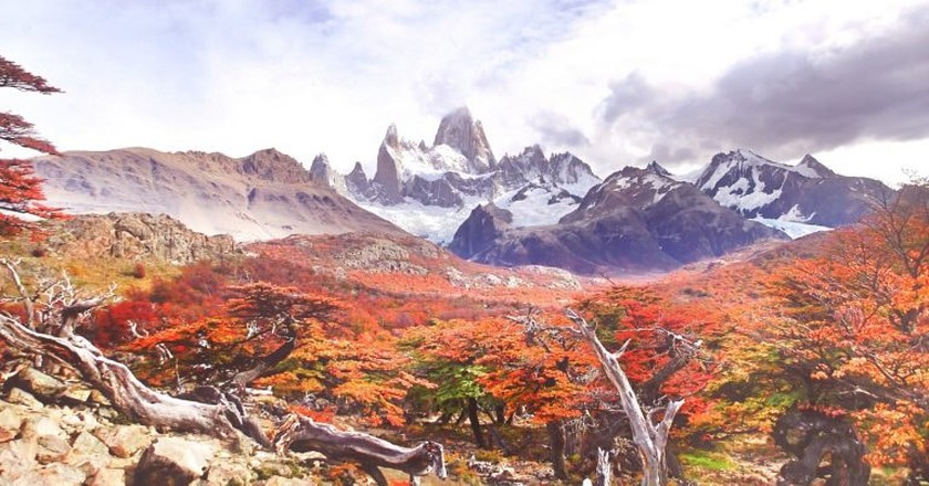 The beautiful autumnal colours of Patagonia, Argentina