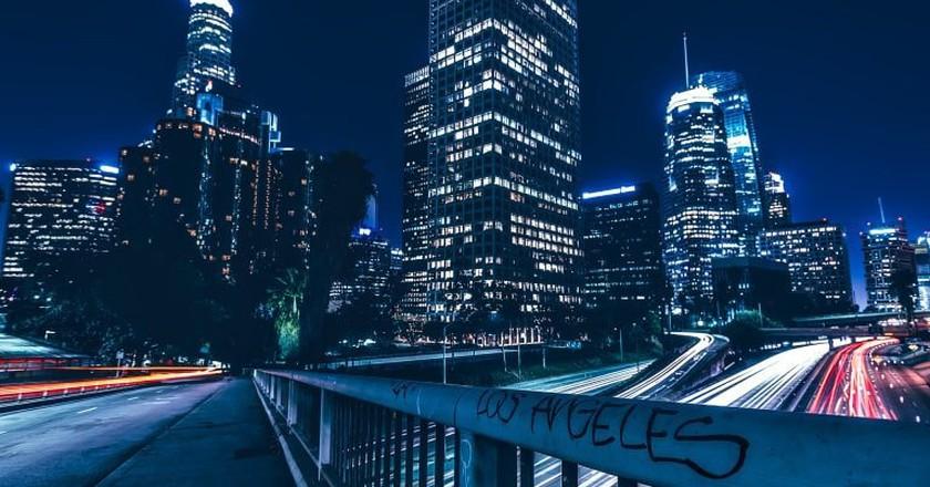 Downtown LA at night
