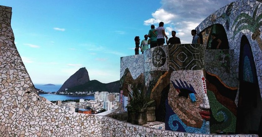 The Maze in Rio de Janeiro with stunning mosaics and a gorgeous view
