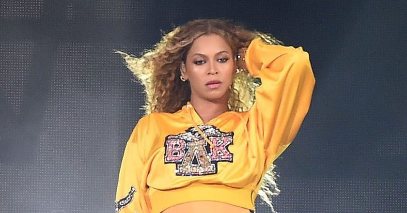 Mandatory Credit: Photo by Frank Micelotta/REX/Shutterstock (9629547e) Beyonce Knowles Coachella Music and Arts Festival, Weekend 1, Indio, USA - 14 Apr 2018 WEARING CUSTOM BALMAIN