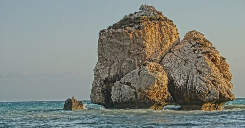 Swimming around the Aphrodite rock brings good luck and youth