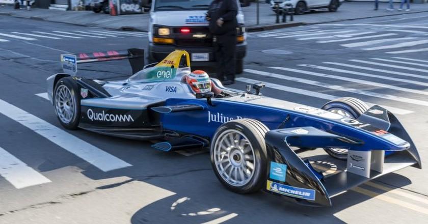 Formula E parade in New York City   © Formula E