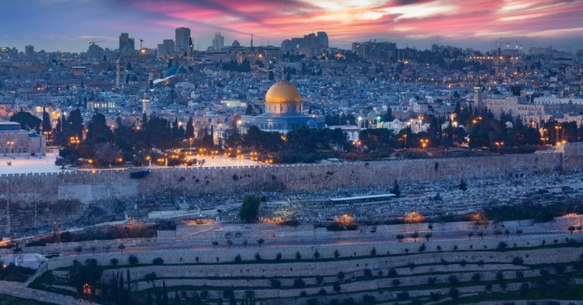 View of Jerusalem's Old City, Israel