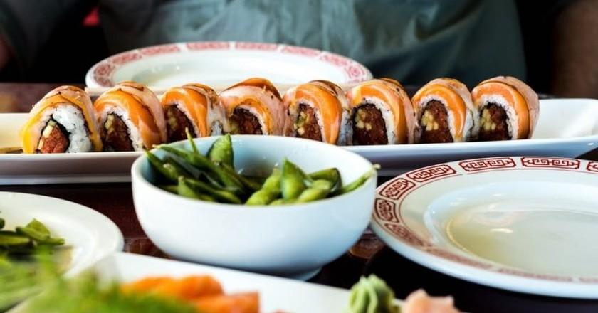 A spread of Japanese cuisine