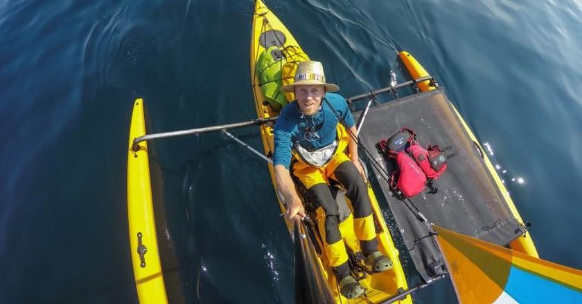 Trimaran on Lake Superior