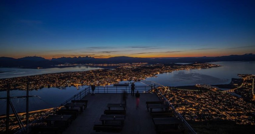 View of Tromsø from the Cable Car