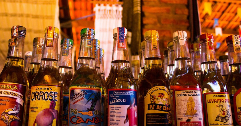 Brazil has many different brands of cachaça