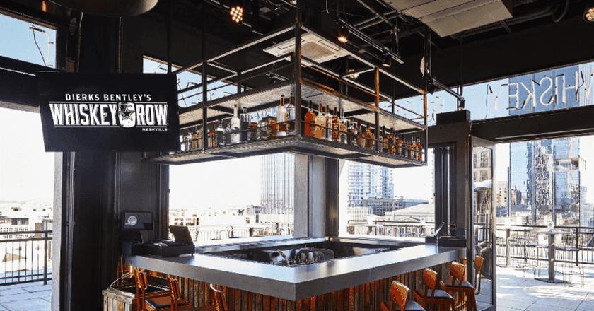 Whiskey Row has a full menu, a rooftop patio & a dance floor