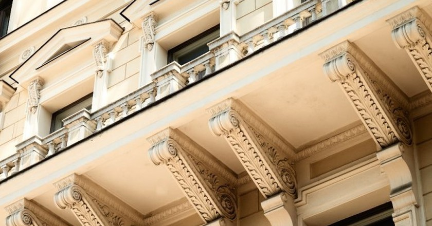 Architectural details of Hotel St George