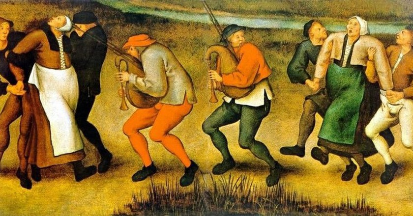 The dancing fever of 1518 | © Pieter Brueghel the Younger / WikiCommons