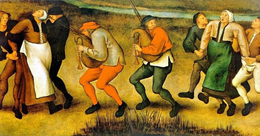 The dancing fever of 1518 | ©Pieter Brueghel the Younger / WikiCommons