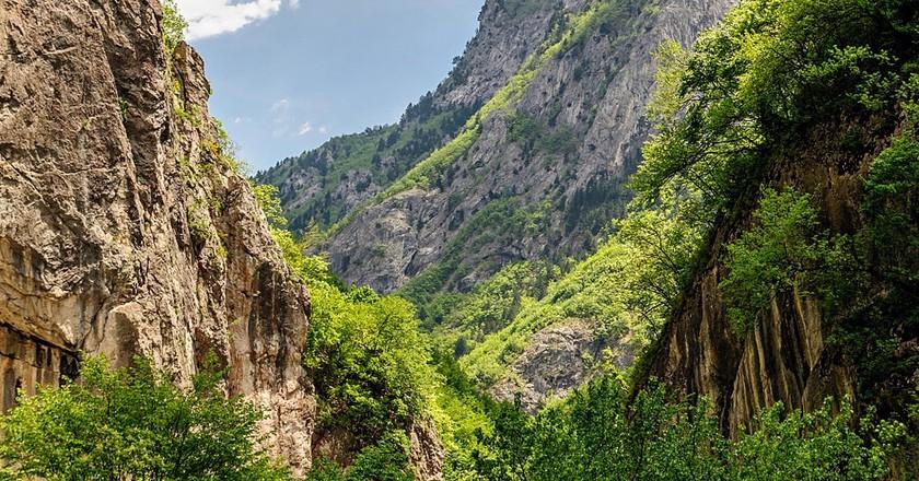 Rugova Canyon in Kosovo