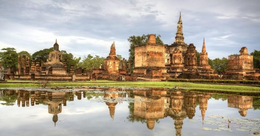 Reflections of Sukhothai, Thailand