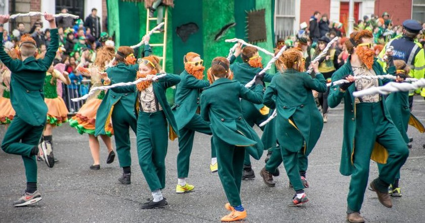 Colourful Irish Parade for St Patrick's Day