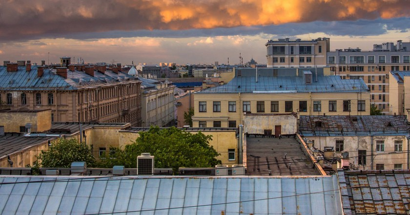 Roofs of St Petersburg