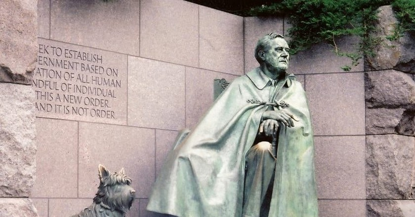 Fala, the first dog of our 32nd president, has his own memorial. Explore Washington, D.C. with your own pup.