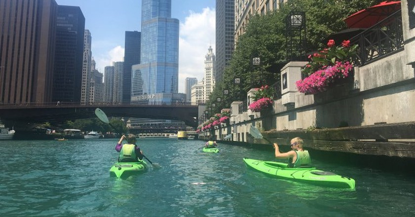 Kayaking on the river through Chicago's Loop is the most unique and adventurous way to see the city